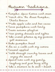 Autumn Traditions