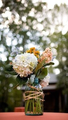 mason jar wedding decor.