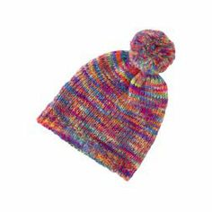 Le Big Neon Hat | Brighten fall and winter days with this hat. Check out the pom pom!