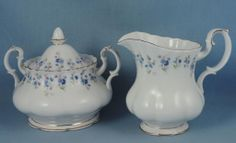 Lovely Royal Albert Memory Lane Covered Sugar and Large Creamer Nice | eBay