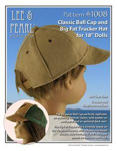 L&P Pattern 1008  Classic Ball Cap and Big Fat by leeandpearl, $4.99