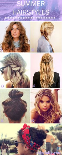 Summer Hairstyles: A DDG Moodboard full of season ready tresses #spring #summer
