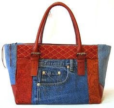 Patchwork Handbags Jean Recycle.