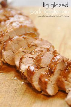 Fig Glazed Pork Tenderloin