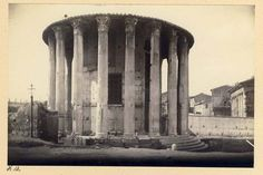 Temple of Vesta Rome Italy c1890s