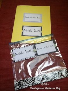 plastic bags, common core standards, classroom blog, student binder organization, teaching blogs