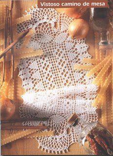 Hooked on crochet: Caminho de mesa