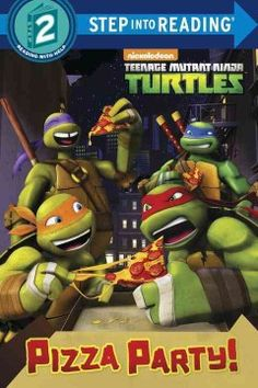 ER TEE. Battling robots and eating pizza are all in a night's work for the Teenage Mutant Ninja Turtles.