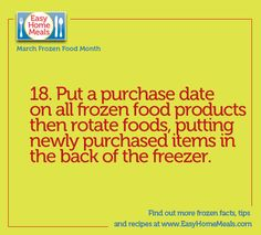 First in, first out! We're over halfway through #MarchFrozenFoodMonth!