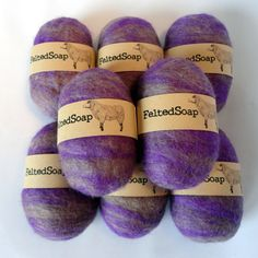 Custom Colors Felted Soap with Labels