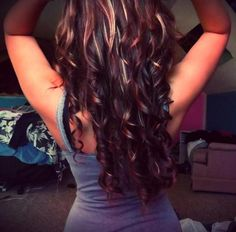 purple ombre highlights | Dark Curls, Blonde Highlights - Hairstyles and Beauty Tips
