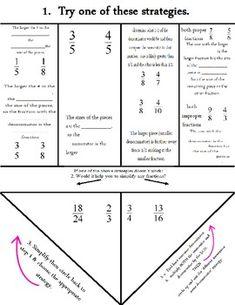 Comparing Fractions Flowchart Foldable