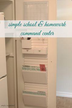 Simple School Paper & Homework Command Center
