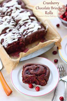 Cranberry Chocolate Brioche Rolls @RoxanaGreenGirl | Roxana's Home Baking | Roxana's Home Baking