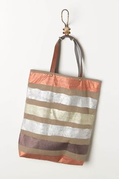Foil Striped Tote