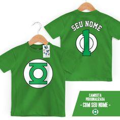 Camiseta Infantil Lanterna Verde Logo Name