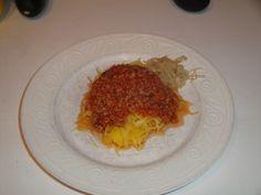 Spaghetti Squash and sauce