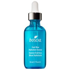 boscia - Cool Blue Hydration Essence: an innovative, intensely hydrating gel-serum essence formulated to create lasting moisturization and firmness while calming and cooling the skin. #Sephora