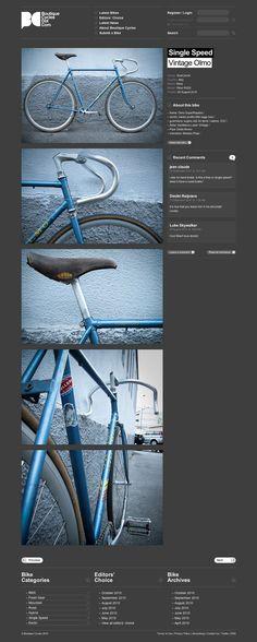 Unique Web Design on the Internet, Boutique Cycles #webdesign #websitedesign #website #design http://www.pinterest.com/aldenchong/