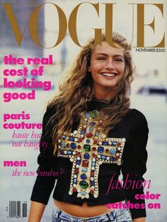Anna Wintour's first cover. Don't think I'll ever forget this one.