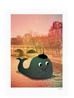 Whale Poster - Ingela P Arrhenius at Human Empire