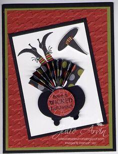 Stampin' Up!  Ornament Punch  Julie Arvin  Halloween Cauldron