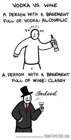 Vodka vs. Wine…