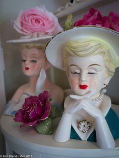 Love lady head vases