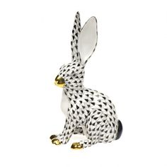 Herend porcelain Jack Rabbit figurine,