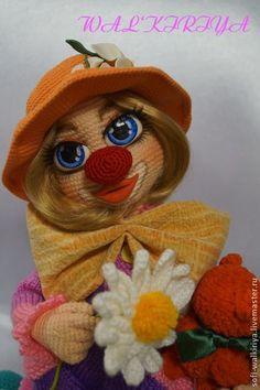 Agnes clown - clowns, clown, clown, doll, knitted toy, crochet