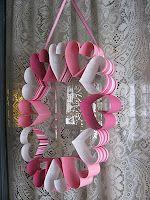 valentine crafts, craft day, paper wreaths, valentine day crafts, valentin craft