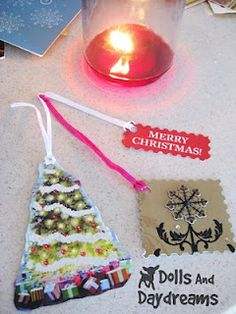 #Recycled Christmas Cards into Gift Tags