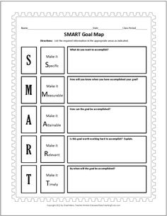 Goal setting, could use with teachers or kids?