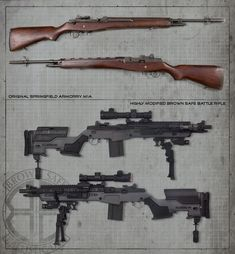 M1A Socom II from Springfield Armory that has undergone an extreme makeover at the hands of the Brown Safe Ballistic Division