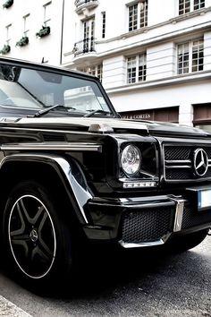 ♂ Black car Mercedes G63 AMG #cars #Mercedes