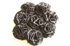 Bouquet ramo de flores de tela en negro 606619349 algodondeluna@gmail.com