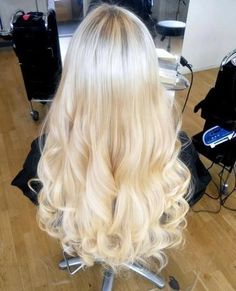 Curly Hairstyles For Summer platinum blonde, curly hairstyles, hair colors, blond hair, princess hair, long hair, summer colors, soft curls, dream hair