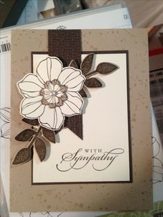 Sympathy card - Best of Greetings