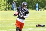 - Brandon Marshall is all smiles in his new Chicago Bears colors.