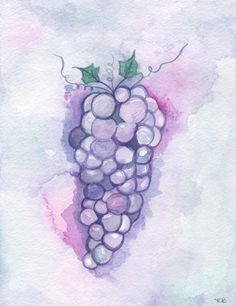 Vineyard of Love/purple and pink by kellybermudez on Etsy, $14.00