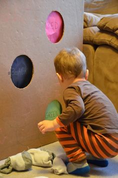 Olympic snowball toss game for kids that reinforces color names from And Next Comes L