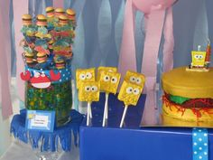 "Photo 3 of 15: Spongebob Square Pants / Birthday ""Who lives in a pineapple under the sea?!?! SPONGEBOB SQUAREPANTS"" 