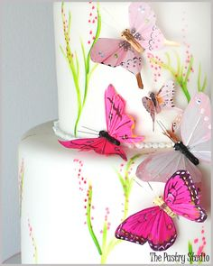 Beautiful Spring Butterfly Themed Cake Picture