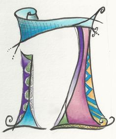 Dabbling in whimsical Hebrew letters. Hebrew Hay by Allison Carter