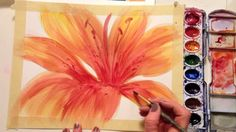 How to watercolor a flower.