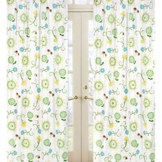 Sweet Jojo Designs Layla panels - Floral Print Playroom curtain idea