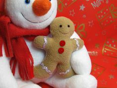 FREE Gingerbread man softie pattern for Christmas - from Funky Friends Factory!