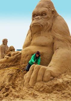 Weston-super-Mare sand sculpture festival 2013.