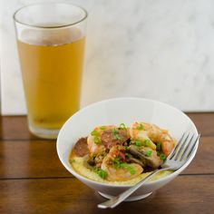 Lightened Up Shrimp and Grits   quick & easy weeknight meal or simple entertaining, all in one