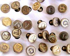 vintage brass wax seals